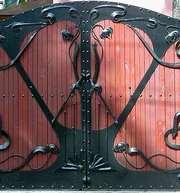 Ворота въездные металлические,  кованные,  ажурные,  ворота гаражные