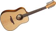 Продам акустическую 12-струнную гитару Lag Tramontane T-66D12.