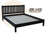 Кровать,  деревянная,  Лк- 102,  Скиф,  из массива хвойных пород деревьев.