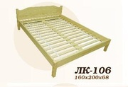 Кровать,  деревянная,  Лк- 106,  Скиф,  из массива хвойных пород деревьев.