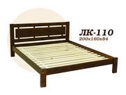 Кровать,  деревянная,  Лк- 110,  Скиф,  из массива хвойных пород деревьев.