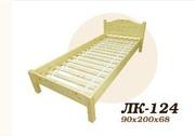Кровать,  деревянная,  Лк- 124,  Скиф,  из массива хвойных пород деревьев.