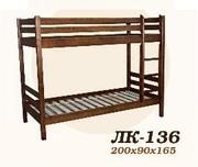 Кровать,  деревянная,  Лк- 136,  Скиф,  из массива хвойных пород деревьев
