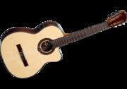 Продам классическую гитару со звукоснимателем Lag Occitania OC400ce S