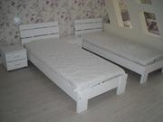 Кровать Белая Ладья из дерева бука