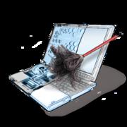 Чистка системы охлаждения ноутбуков от пыли.