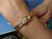 Оригинальные золотые часы Mathey-Tissot с бриллиантами и золотым ремеш