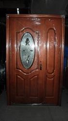Двери металлические со стеклом 1200 мм
