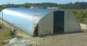 строительство бескаркасных арочных сооружений(рынки, ангары, склады)
