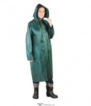Плащ влагозащитный,  ПВХ+полиэстер,  PPNP,  цвет: зеленый