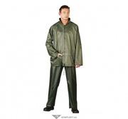 Костюм ПВХ+полиэстер,  KPL (Z),  куртка,  брюки,  цвет: зеленый