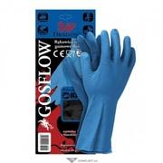 Перчатки латексные хозяйственные,  GOSFLOW,  вес - 60 гр.,  цвет: синий