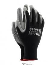 Перчатки трикотажные ИЗУМРУД с двойным латексным покрытием,  RDR,  черны