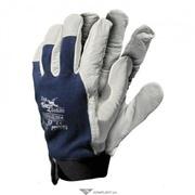 Перчатки комбинир. (кожа+х/б трикотаж) RLTOPER-VELCRO (типа Автомобили