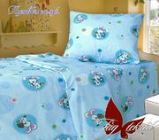 Постельное белье для новорожденных Киев,  Комплект Пуговки (голубые)