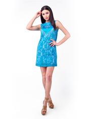 Оптовый производитель женской одежды VOKARI | Платье с атласным сердце