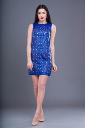 Оптовый производитель женской одежды VOKARI | Платье из экокожи