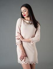 Оптовый производитель женской одежды VOKARI | Платье с перфорацией