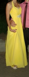 Шикарное желтое платье