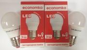 Светодиодная лампа G45 LED 6W E27 Economka (шарик)