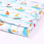 Постельное белье в кроватку 120х60,  Комплект Кораблики