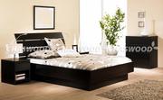 Двуспальная кровать Латте из натурального дерева