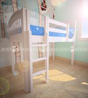 Детская кровать-чердак Снежок