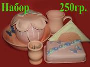 Продам набор кухонной посуды из глины
