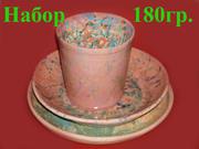 Набор  посуды из глины из 3 предметов