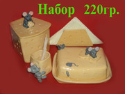 Набор кухонной посуды из глины