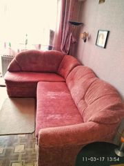 Продам полный комплект мягкой мебели:мягкий уголок,  кресло и пуфик