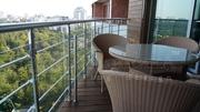 Лестничные перила и ограждения из анодированного алюминия,  стекла и не