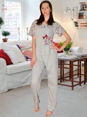 Пижамы футболка и брюки женские оптом піжами футболка і брюки жіночі