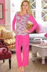 Теплые пижамы кофта и брюки женские оптом теплі піжами кофта і брюки