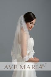 Свадебная фата, длина 1 м(доступно от 1 м до 3 м)