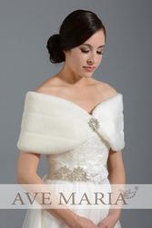 Свадебная меховая накидка-манто