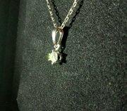 Кулон с бриллиантом 0. 20 карата
