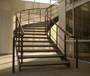 Алюминиевые перила и комплектующие,  лестничные ограждения.