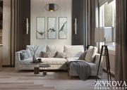 Дизайн интерьера квартир. Подбор мебели и материалов. Ремонт под ключ.