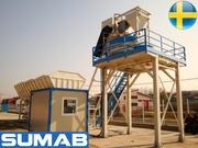 Стационарный бетонный завод SUMAB T-60