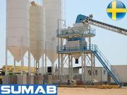 Стационарный Бетонный завод Sumab T-120