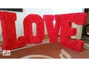 Буквы для свадьбы. Буквы для фото. LOVE